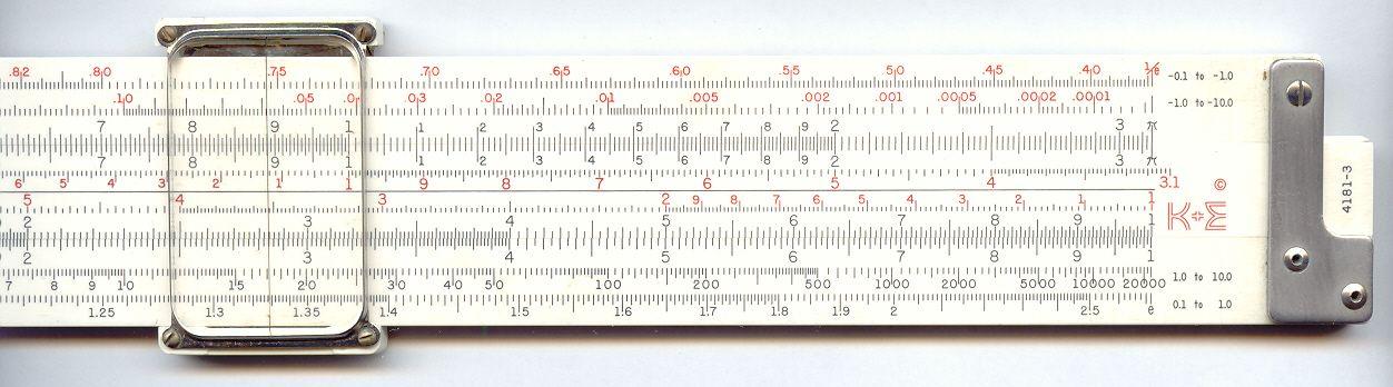 Greg's Slide Rules - Keuffel & Esser 4181-3 Log Log Duplex ...